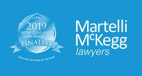 Martelli McKegg announced as a finalist in the NZ Law Awards